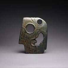 Mayan Jade Hacha of a Bird Head