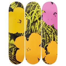 Flowers (Green/Pink) Skateboard Decks after Andy Warhol