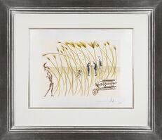Salvador Dalí, 'Hommage à Leonardo da Vinci: La moissonneuse', 1975