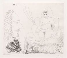 Pablo Picasso, 'Courtisane au Lit avec un Visiteur, from the 347 Series', 1968