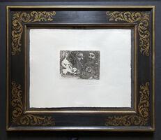 Pablo Picasso, 'Marie-Therese en idole et trois Grecs Barbus (Femme nue assise et trois têtes barbus)', 1934