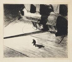 Edward Hopper, 'Night Shadows, from Six American Etchings (Series I)', 1921