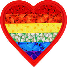 Rainbow Butterfly Heart