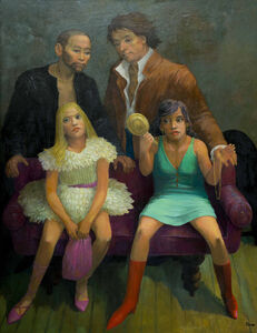 "Anne Lyman Powers, 'Vanitas, or Models (An Homage to Goya's ""Majas on a Balcony"")', 2006"