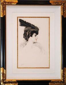 Paul César Helleu, 'La Dame a la Toque', ca. 1906