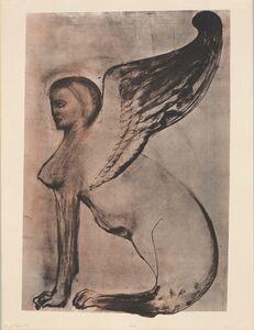 Leon Golub, 'Winged Sphinx I,', 1972