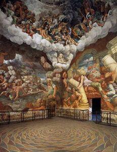 Giulio Romano, 'Fall of the Giants, fresco in the Sala dei Giganti, Palazzo del Te', 1530-1532