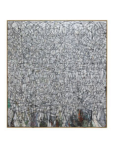 Zachary Armstrong, 'All White / Black Grid After Noah', 2018