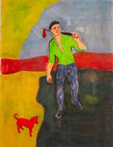 Sandro Chia, 'Passeggiata con cane', 2006