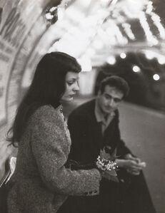 "Robert Doisneau, '""Le Muguet du Métro"" (Marc and Christiane Chevalier in the Paris Metro)', 1953"