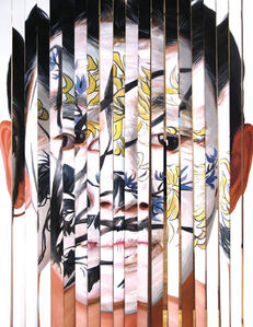 Huang Yan, 'Orchid Face Tattoo & Chrysanthemum Face Tattoo', 2001