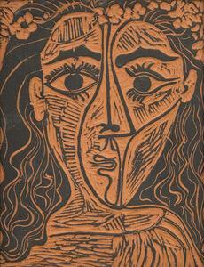 Pablo Picasso, 'Tête de femme à la couronne de fleurs', 1964