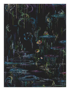 Kysa Johnson, 'blow up 380 - Crude (metamorphosis) - phytoplankton and chemical components of petroleum after Monet', 2019