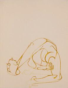 Dumile Feni, 'Untitled (Bending Over Backwards)', 1985