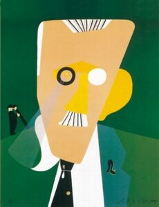 Eduardo Arroyo, 'James Joyce's portrait', 1992