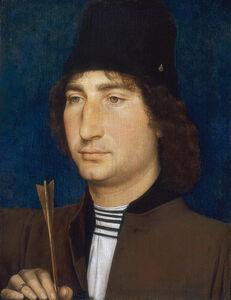 Hans Memling, 'Portrait of a Man with an Arrow', ca. 1470/1475