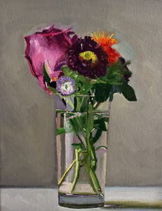 Dan McCleary, 'Mixed Flowers with Purple rose', 2017
