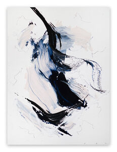 Lena Zak, 'Blue Velvet 13 (Abstract work on paper)', 2020