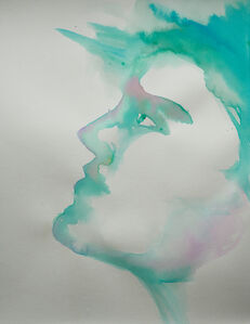 Alexandra Bregman, 'Boy's Face in Blue', 2018