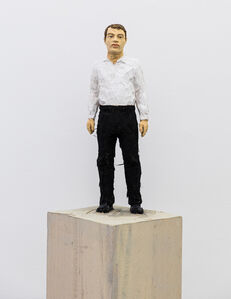 Stephan Balkenhol, 'Man with Black Trousers and White Shirt', 2019