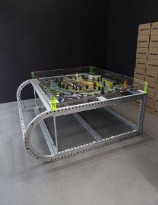 Simon Denny, 'Extractor Board Game XL Display Prototype', 2019