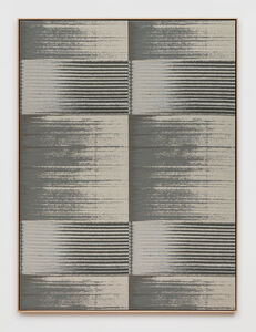 Mika Tajima, 'Negative Entropy (Stripe International Inc., Legal Department, Light Gray, Quad)', 2019