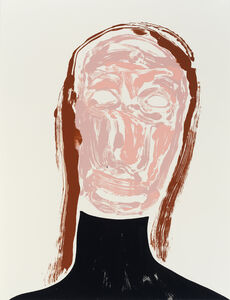 Nicola Tyson, 'Self-Portrait: Tired (black turtle neck)', 2017