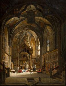 Vincenzo Abbati, 'Interior of a cathedral'