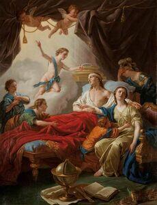 Louis-Jean-François Lagrenée, 'Allégorie à la mort du dauphin (Allegory on the Death of the Dauphin)', 1765