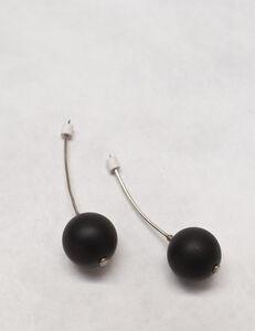 Gillian Carrara, 'Silver and Onyx Drop Earrings', 2012