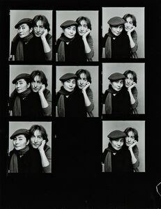 Jack Mitchell, 'Two Contact Sheets with Portraits of John Lennon and Yoko Ono', 1980
