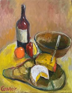 Russell Connor, 'Still Life (Wine & Cheese)', 1995