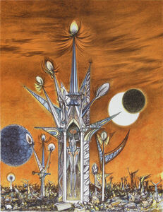 Joseph A. Mugnaini, 'A Tower on Mars, from the portfolio Ten Views of the Moon', 1981