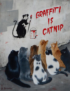 Ben Steele, 'Graffiti is Catnip', 2018