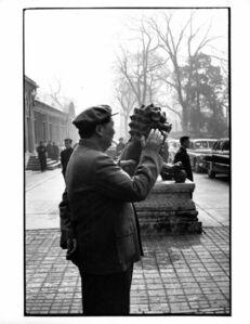 Brian Brake, 'Chairman Mao strolling outside his official residence, Beijing', 1957