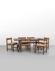 Giovanni Michelucci, 'A table and six chairs from 'Torbecchia' series for POLTRONOVA', 1965