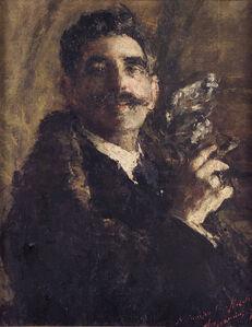 Antonio Mancini, 'Portrait of the sculptor G. Nicolini', 1920