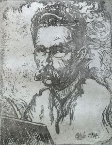 Bernard Leach, 'Self Potrait', 1914