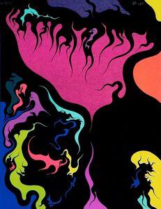 Luigi Boille, 'Red Flames', 1971