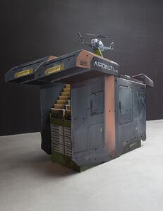 Simon Denny, 'Airobotics Optimus Autonomous drone and docking station Extractor pop display', 2019
