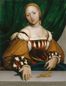 Hans Holbein the Younger, 'Laïs Corinthiaca', 1526