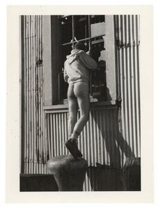Alvin Baltrop, 'The Piers (Man Looking In Window)', n.d. 1975-1986