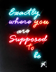 Zoe Grace, 'Exactly where you're supposed to be', 2017