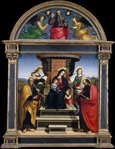 Raphael, 'Madonna and Child Enthroned with Saints', ca. 1504
