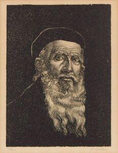 Jacob Epstein, 'Portrait of a Rabbi, Judaica Print', 20th Century