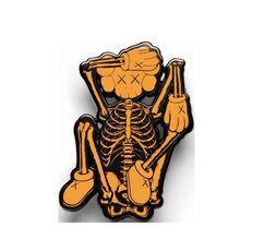 KAWS x NGV skeleton pin, 2019