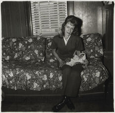 A Woman with her baby monkey, N.J.
