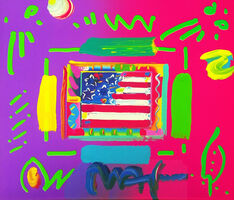 Peter Max, 'FLAG (OVERPAINT)', ca. 2000