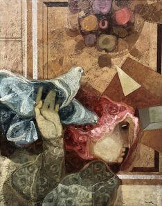 Alvar Sunol, 'Figure and doves', ca. 1990