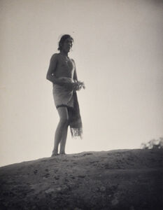 Laura Gilpin, 'Indian with Cedar Branch', 1926